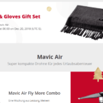 dji winter sale gratis schal handschuhe mavic air