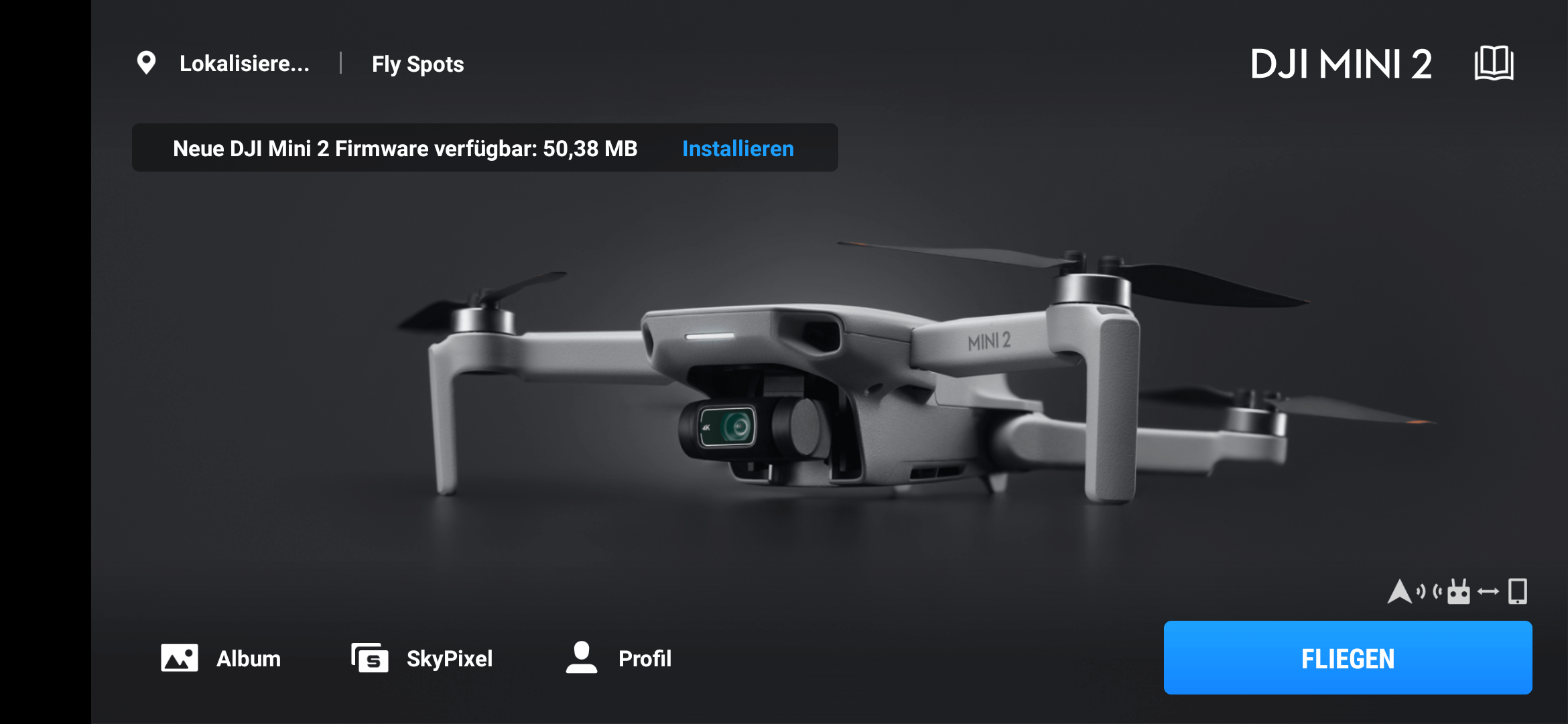 dji mini 2 firmware v01.02.0100 update info