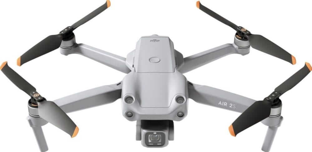dji air 2s render frontal oben